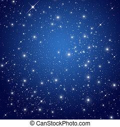 avond lucht, ster