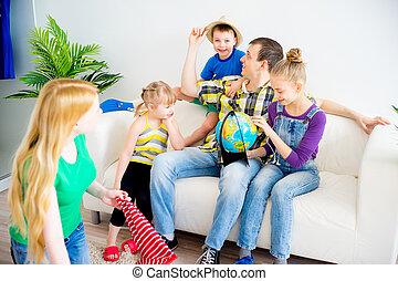 avontuur, gezin, het bereiden