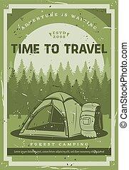 avontuur, uitstapjes, wild, natuur, kamperen