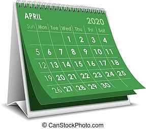 avril, 2020, calendrier