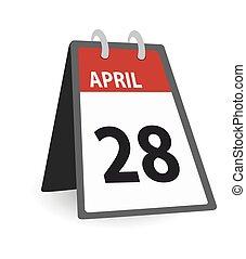 avril, calendrier, jour