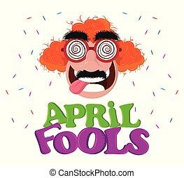 avril, fools, carte, jour
