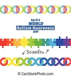avril, jour, 2, mondiale, 2017, autism, conscience