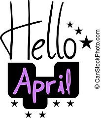 avril, message, bonjour
