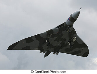 avro vulcan after taking off from raf waddington