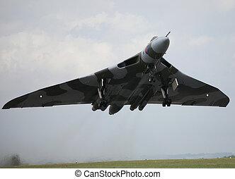 avro vulcan taking off from raf waddington