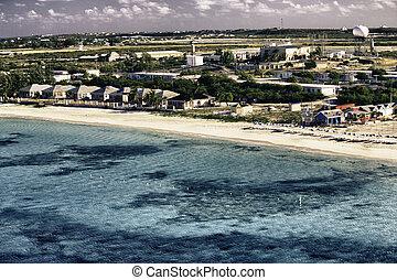 avskild, karibisk, strand