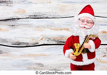 avskrift, claus, jultomten, space., docka