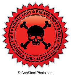 avskrift, sjörövare, etikett