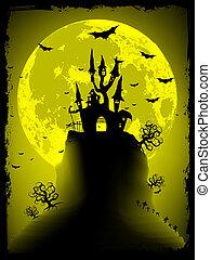 avskrift, space., eps, halloween, hemsökt av spöken, 8