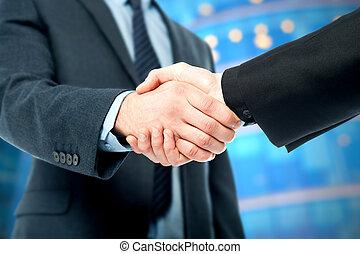 avsluta, affärsavtal, congratulations!