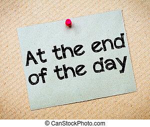 avsluta, dag