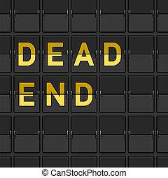 avsluta, flip, död, bord