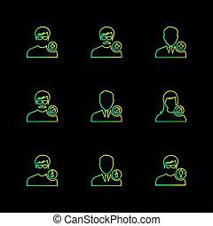 avtar, gebruiker, profiel, avatar, emoji, emoticon, eps, iconen, set, vector