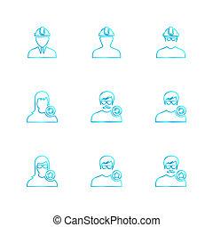avtar, gebruiker, profiel, avatar, eps, iconen, set, vector