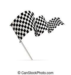 avto., a cuadros, solo, bandera, vector, carreras
