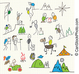 avventuriero, vacanza, sport