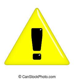 avvertimento, 3d, segno