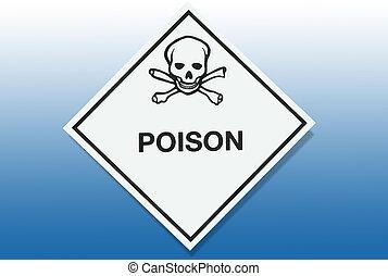 avvertimento, -, azzardo, veleno, segno