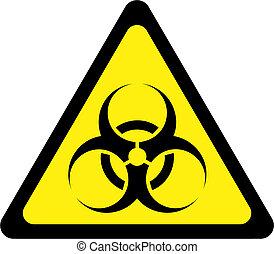 avvertimento, biohazard, segno, giallo, sostanze