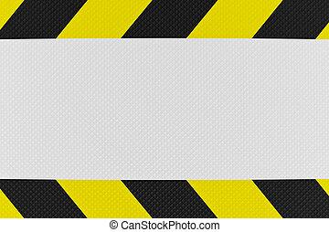 avvertimento, nero, segno giallo