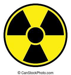 avvertimento, radiazione, segno