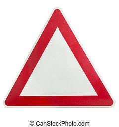 avvertimento, segno