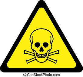 avvertimento, segno pericolo, mortale