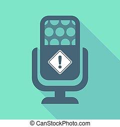 avvertimento, segno strada, lungo, microfono, uggia