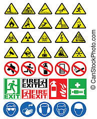 avvertimento, sicurezza, segni