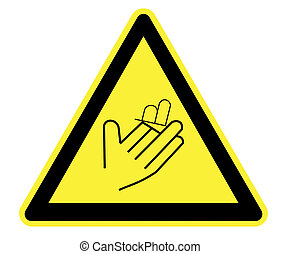 avvertimento, taglio, triangolo, giallo