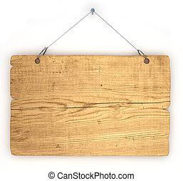 avviso, legno, vecchio, asse