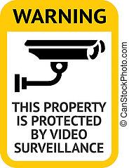 avviso, sorveglianza video