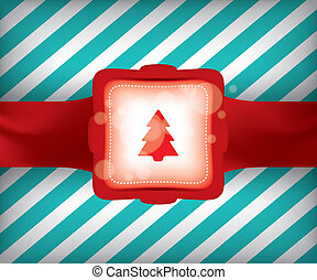 avvolgere, albero, regalo natale
