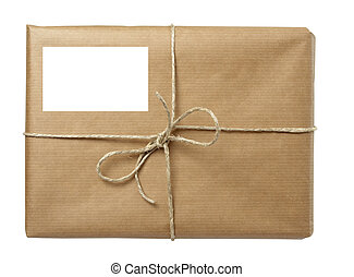 avvolgere, scatola, pacchetto