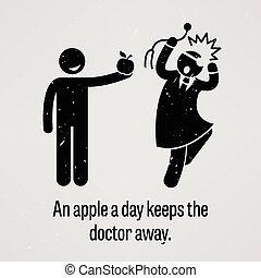 awa, もつ, アップル, 日, 医者