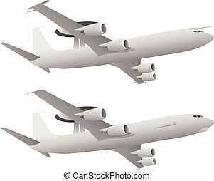 AWACS Airborne Warning and Control System Aircraft vector...