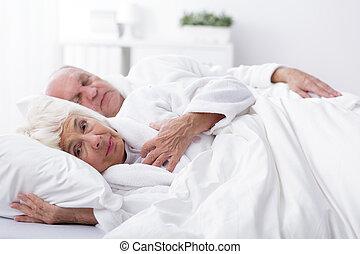Awaken wife and sleeping husband