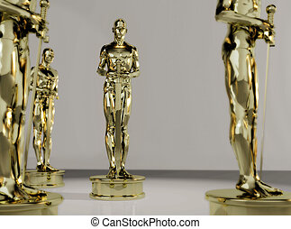 award - A illustration of the golden statue