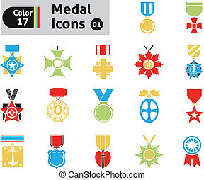 Award and medal icons