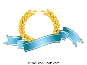 Award and ribbons - Award designs red shields with ribbons,...