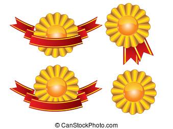 Award and ribbons