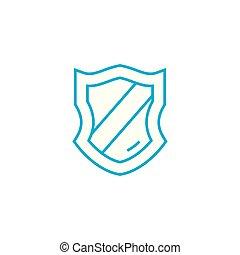 Award badge vector thin line stroke icon. Award badge outline illustration, linear sign, symbol concept.