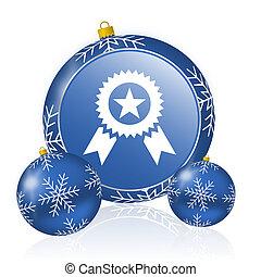 Award blue christmas balls icon