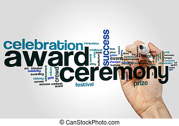 Award ceremony word cloud