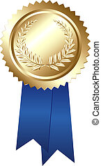 Award - Guaranteed Sign, Isolated On White Background,...