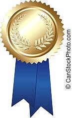 Award - Guaranteed Sign, Isolated On White Background, ...
