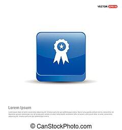 award icon - 3d Blue Button