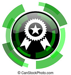 award icon, green modern design isolated button, web and mobile app design illustration