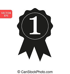 Award Icon in trendy flat style isolated on white background. Badge symbol for your web site design, logo, app, UI. Vector illustration, EPS10.